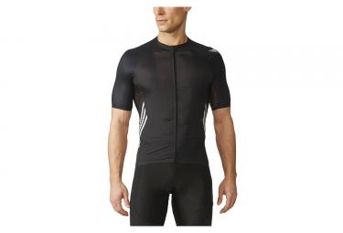 maillot manches courtes adidas cycling adizero noir
