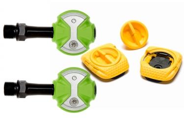 pedales speedplay zero chromo vert cales walkable