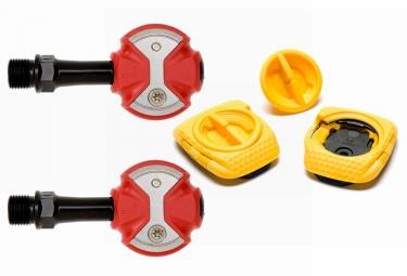 pedales speedplay zero chromo rouge cales walkable