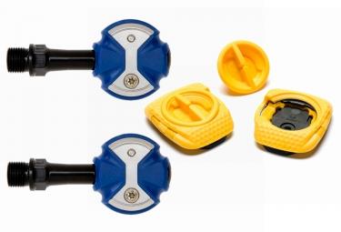pedales speedplay zero chromo bleu cales walkable