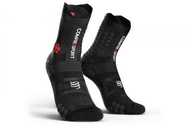 chaussettes compressport v3 0 trail smart haute noir