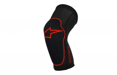 genouilleres alpinestars paragon noir rouge