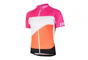 maillot manches courtes poc 2017 fondo gradient rose orange
