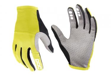 paire de gants poc 2017 resistance pro xc jaune gris