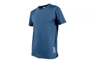 maillot manches courtes poc 2017 resistance enduro light bleu