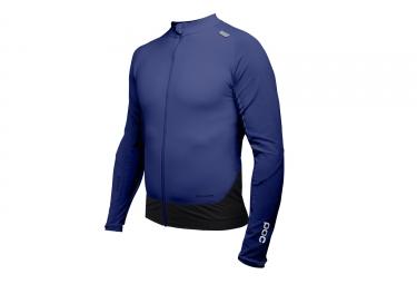 maillot manches longues poc 2017 resistance pro xc zip bleu