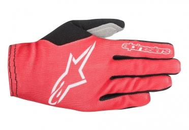 gants longs vtt alpinestars aero 2 rouge blanc