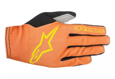 gants longs vtt alpinestars aero 2 orange jaune