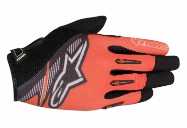 gants longs vtt alpinestars flow orange noir