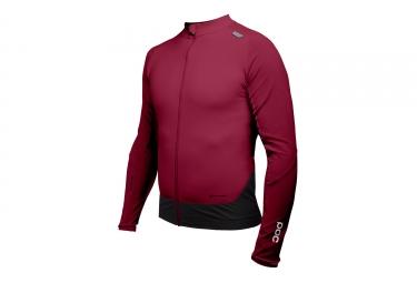 maillot manches longues poc 2017 resistance pro xc zip rouge