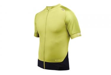maillot manches courtes poc 2017 resistance pro xc zip jaune