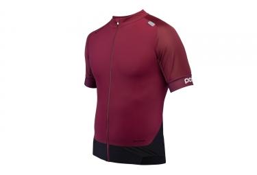 maillot manches courtes poc 2017 resistance pro xc zip rouge