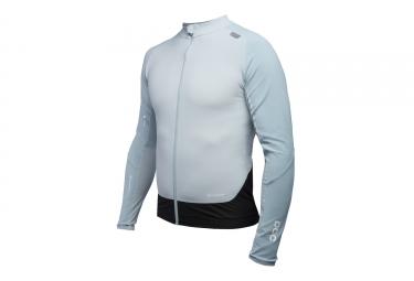 maillot manches longues poc 2017 resistance pro xc zip bleu pale