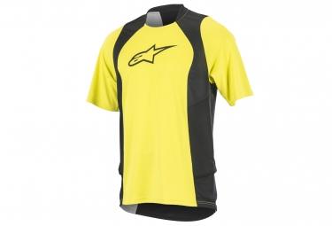 maillot manches courtes alpinestars drop 2 jaune noir