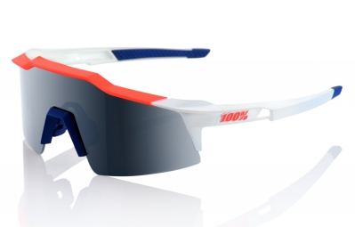 lunettes 100 speedcraft sl bleu blanc rouge ecran gris iridium