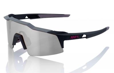 lunettes 100 speedcraft sl noir gris ecran fume