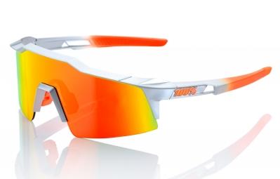lunettes 100 speedcraft sl gris orange ecran orange iridium