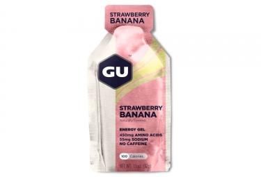 gu gel energetique energy fraise banane 32g