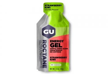 gu gel energetique roctane fraise kiwi 32g