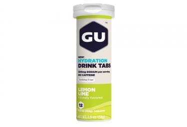 gu 12 pastilles effervescentes tabs citron citron vert