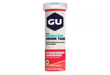 gu 12 pastilles effervescentes tabs fraise limonade