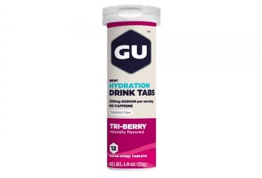 gu 12 pastilles effervescentes tabs trois fruits rouges
