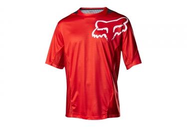 maillot manches courtes fox demo rouge noir