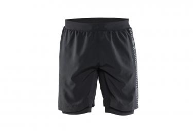 short avec peau craft grit noir