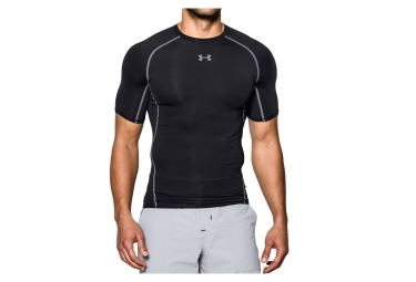 sous maillot de compression manches courtes under armour heatgear armour noir