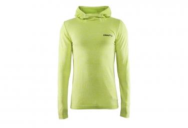 sweat a capuche craft core seamless hood vert fluo