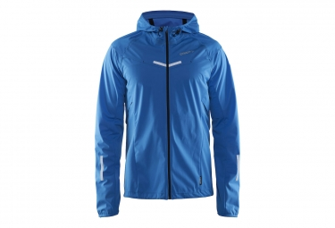 veste coupe vent a capuche craft edge weather bleu