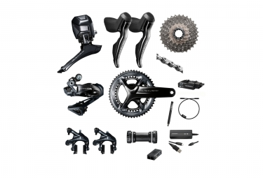 shimano 2017 groupe complet dura ace r9150 di2 11v 172 5mm 50 34 dents