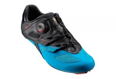paire de chaussures route mavic cosmic elite 2017 noir bleu