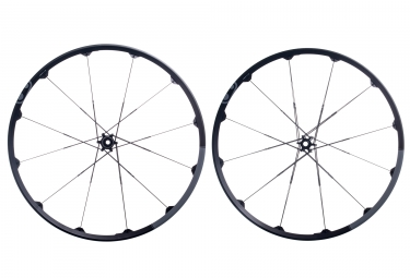 paire de roues crankbrothers 2017 cobalt 2 29 15x100mm 12x142mm noir gris
