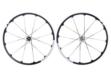 paire de roues crankbrothers 2017 cobalt 3 29 boost 15x110mm 12x148mm noir blanc