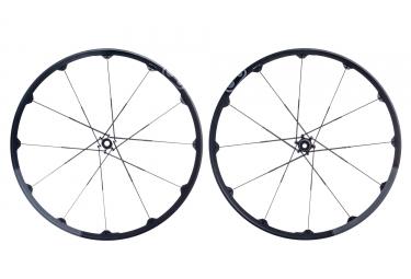 paire de roues crankbrothers 2017 iodine 2 27 5 15mm 12x142mm noir gris
