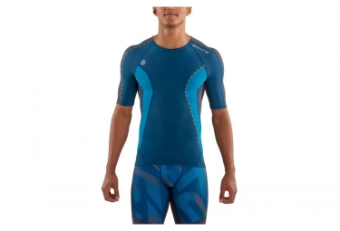 maillot de compression skins dnamic bleu