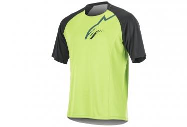 maillot manches courtes alpinestars trailstar vert noir