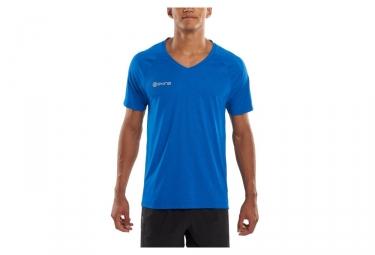maillot manche courte skins plus bleu