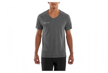 maillot manche courte skins plus gris