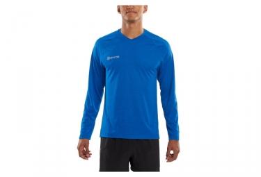 maillot manches longues skins plus bleu