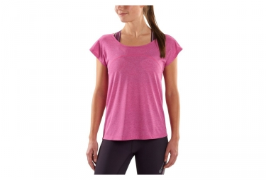maillot manches courtes femme skins plus rose