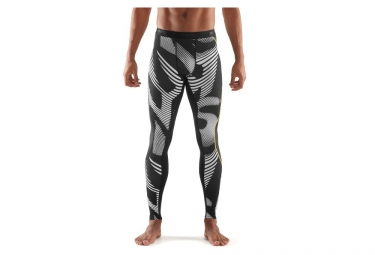 collant long de compression skins dnamic noir blanc