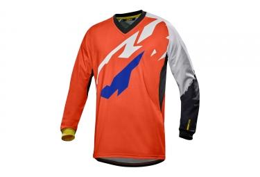 maillot manches longues mavic 2017 crossmax pro orange blanc