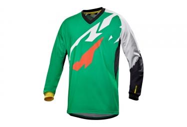 maillot manches longues mavic 2017 crossmax pro vert blanc