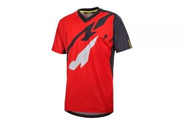 maillot manches courtes mavic 2017 crossmax pro rouge noir