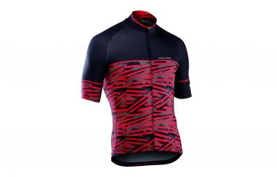 maillot manches courtes northwave point break rouge noir 2017