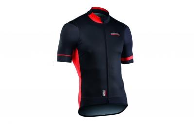 maillot manches courtes northwave air out noir orange 2017