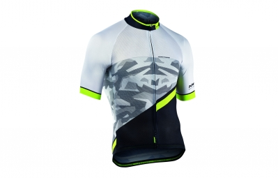 maillot manches courtes northwave blade air 2 blanc camo 2017