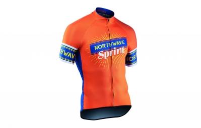 maillot manches courtes northwave sprint orange 2017